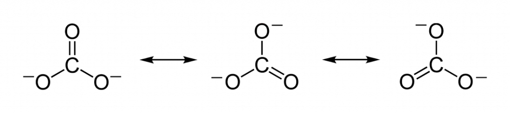resonance structures of CO3 2-