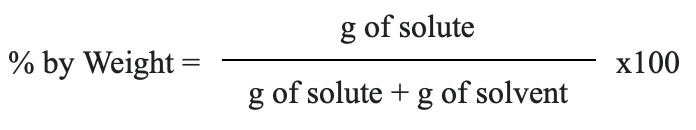 percent by weight equation