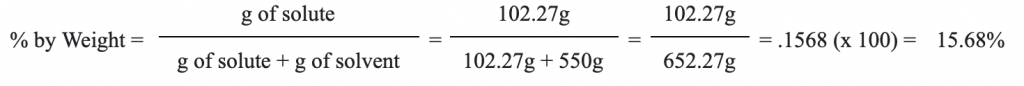 percent by weight calculation example