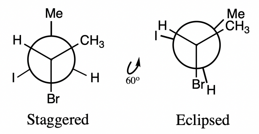 staggered vs eclipsed conformation